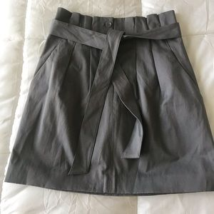 Club Monaco High Waisted Grey Belted  Skirt